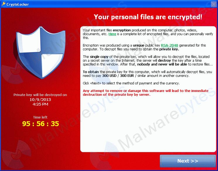 Ransomware Cryptolocker – Help!